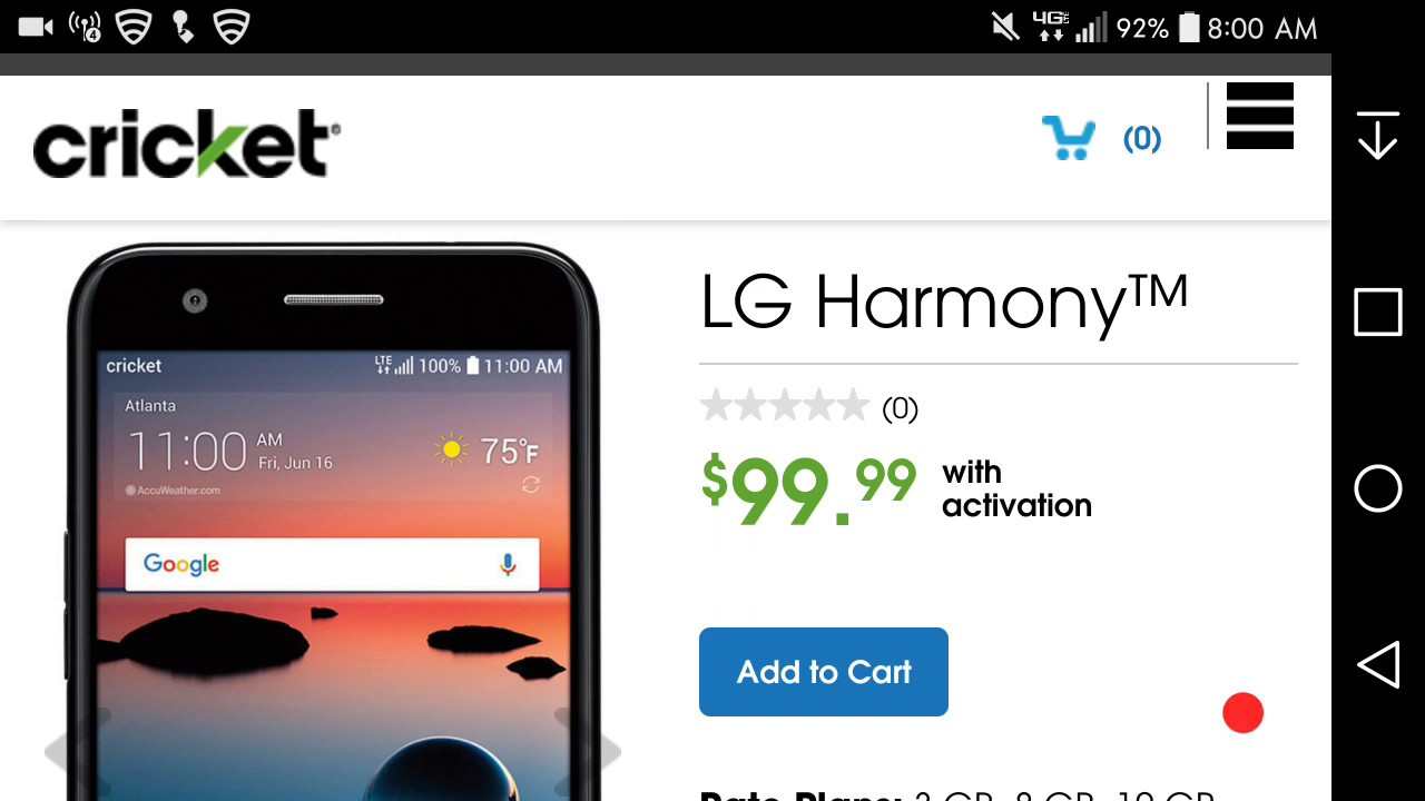 lg harmony cell phone review